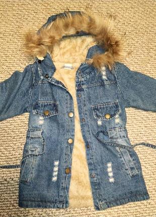 Куртка курточка пальто парка мех енот джинсовая zara mango