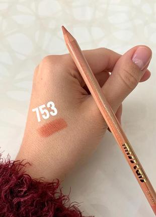 Карандаш для губ miss tais №753 мисс таис карамельно-персиковый чехия матовый