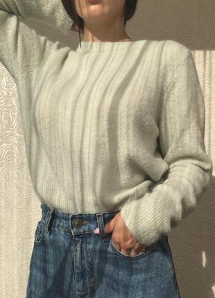 🧸шерстяний светер ангоровий h&m размер s-m