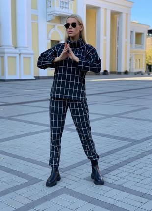 Костюм, кашемировый костюм, костюмчик , костюм в клетку