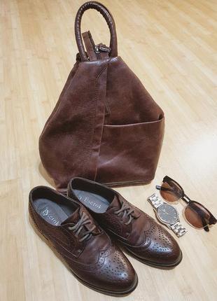Классические броги туфли