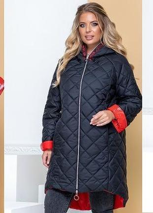 Куртка двусторонняя глянец размеры: 48-52, 54-58, 60-64