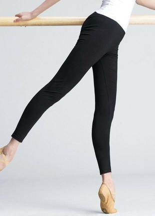 Черные детские лосины для танцев и гимнастики