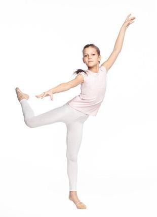 Спортивные детские лосины для танцев и гимнастики белые