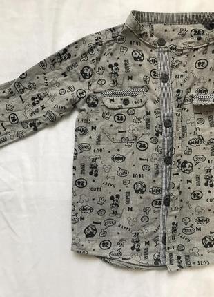Детская рубашка 12-18