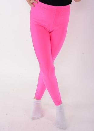 Розовые детские лосины для танцев и гимнастики (малиновые)