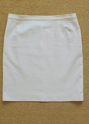 Юбка классика карандаш обтягивающая узкая по фигуре 100% лен льняная белая миди прямая