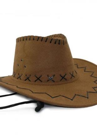 Шляпа ковбойка светло-бежевая новая