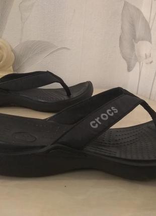 Шлепанцы вьетнамки женские crocs  р.39 стелька 25см оригинал,сша
