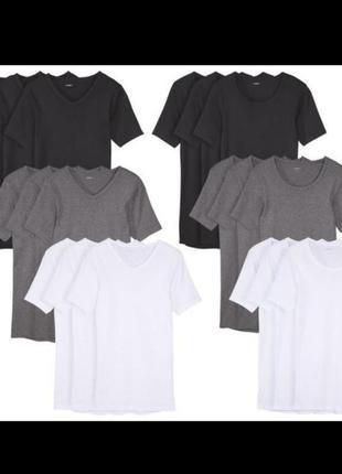 Разные размеры! базовые футболки livergy германия м, xxl, 3xl, 4xl