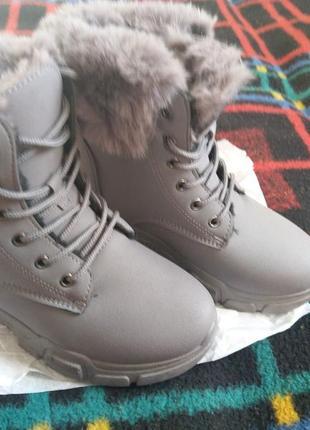Ботинки женские, зимние тепленикие и комфортные.3 фото