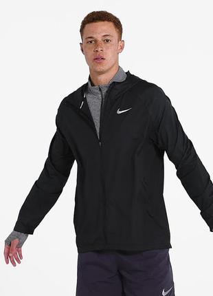 Спортивная черная серая легкая мужская куртка ветровка nike clima-fit
