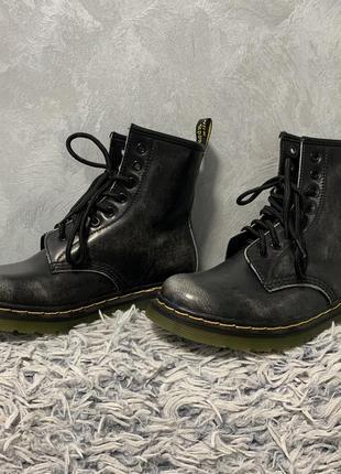 Ботинки сапоги зимние грубые в стиле dr.martens