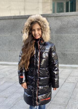 Новинка! шикарный зимний пуховик девочке1 фото