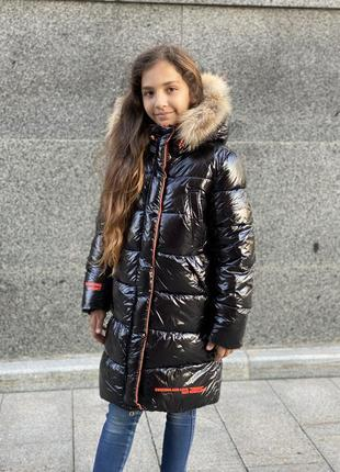 Новинка! шикарный зимний пуховик девочке2 фото