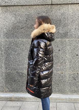 Новинка! шикарный зимний пуховик девочке5 фото