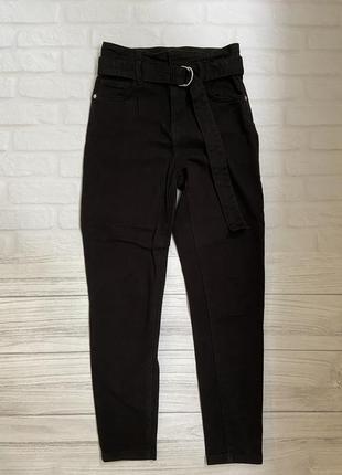 Котоновые брюки джинсы bershka