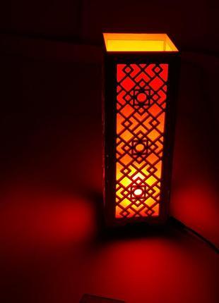 Светильник, ночник из дерева с подсветкой
