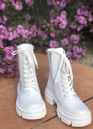 Ботинки на платформе, кожаные ботинки, ботинки демисезон и зима