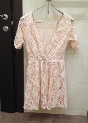 Платье ажурное forever 21