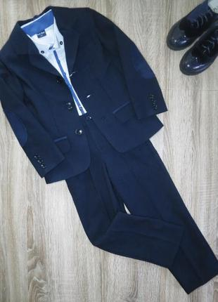 Детский, школьный костюм для мальчика с пиджаком р 134; 140