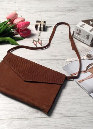 Шикарная сумочка из натуральной кожи р.33х23