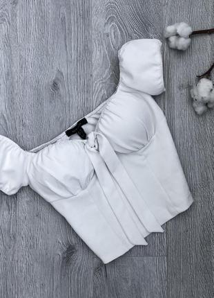 Блузка топ бюстье с открытыми плечами