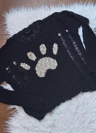 Кофта свитер рваная
