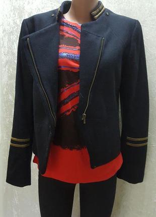 """Шик! супер новая  стильная куртка/ """" h&m"""" шерсть 38- 40 разм в составе шерсть"""
