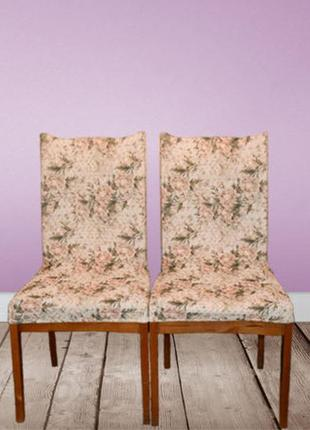 Чехлы на стулья с узором (жаккард) 6 шт. комплект