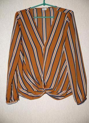 Актуальная блузка в полоску, на запах от pimkie