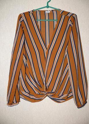 Актуальная блузка в полоску, на запах от pimkie6 фото