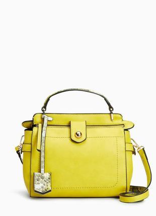 Лимонная сумка, сумочка, кроссбоди next