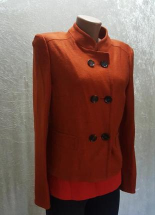 """Шикарная,брендовая куртка/жакет  """"gerri weber"""" насыщенного  цвета 40-42 шерсть"""