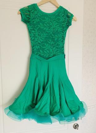 Платье для бальных танцев на 9-10 лет, бейсик