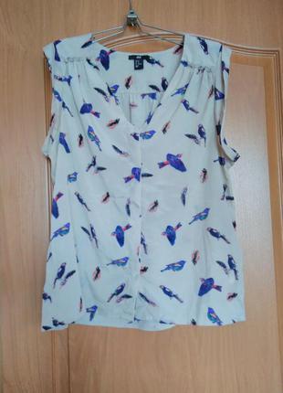 Блузка с птицами.