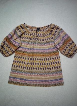 Хлопковая блуза с принтом