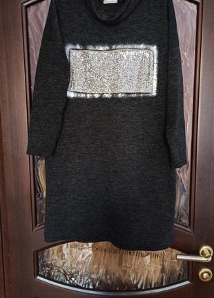 Стильное и теплое платье-балахон оверсайз