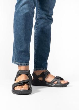 Оригинал. крокс сандали crocs swiftwater river sandals black/black