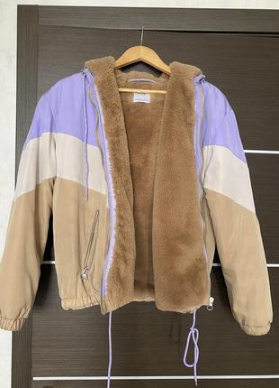 Куртка с мехом bershka
