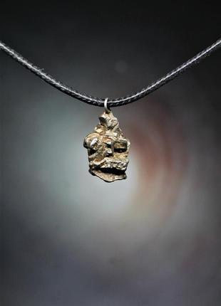 Кулон з метеорита campo del cielo, з сертифікатом автентичності