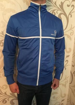 Синій свитер кофта олімпійка sergio taccini