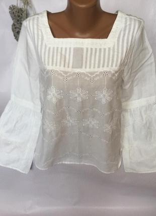 Шикарная нежная блуза с вышивкой m&s