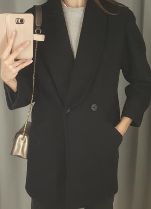 Потрясающее шерстяное винтажное пальто, крой тренд 2020