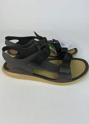 Крокс сандали crocs men's swiftwater expedition sandal espresso /tan