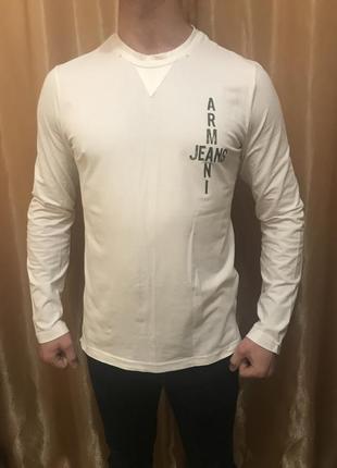 Біла тонка кофта свитер armani jeans