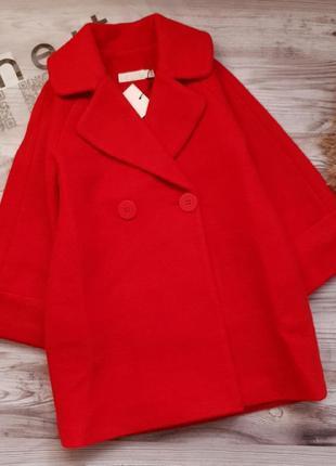Демисезонное шерстяное пальто на подкладке / name it