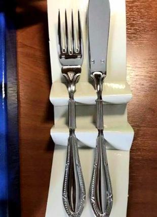 """""""zepter"""" edelstanl 18/10. посеребряный набор вилок и ножей  на 6 персон. новый."""