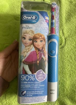 Детская электрическая зубная щётка oral-b frozen