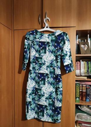 Платье h&m с геометрическим орнаментом